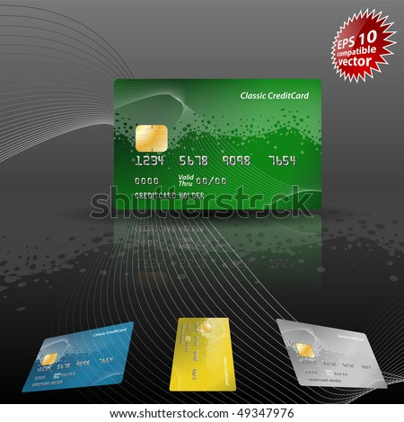 Credit card EPS 10 compatible vector - stock vector