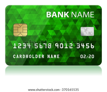 Credit Card - Green Vector illustration of green credit card isolated on white background - stock vector