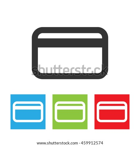 credit card icon credit card logo stock vector hd royalty free rh shutterstock com credit card logo vector images credit card icons vector free download