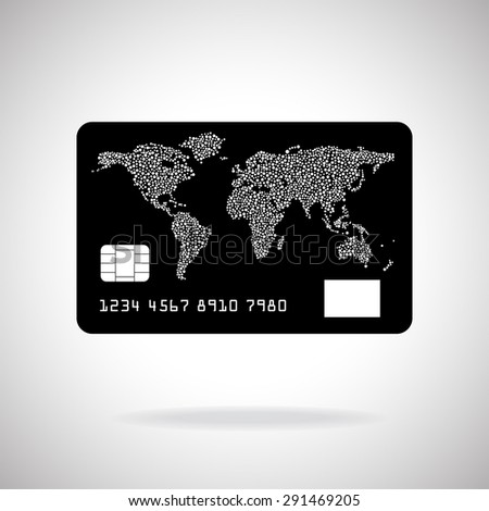 Credit card icon isolated on white background. Vector illustration. Eps10 - stock vector