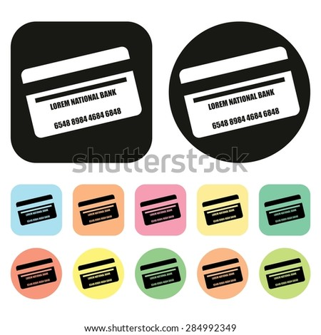 Credit Card icon. Payment icon. Vector - stock vector