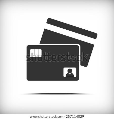 credit card icon - Vector - stock vector