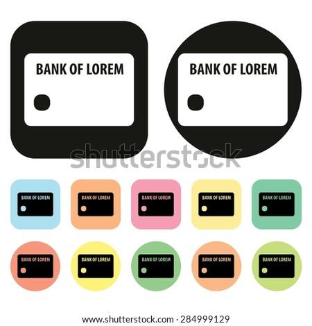 Credit card icon. Vector - stock vector