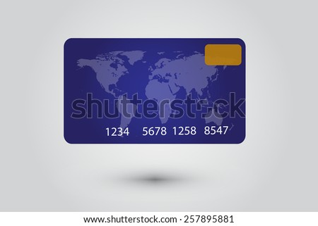 Credit Card in grey background.