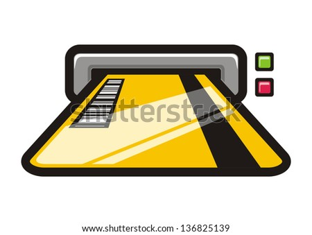 Credit card input - stock vector