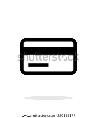 Credit card magnetic tape icon on white background. Vector illustration. - stock vector