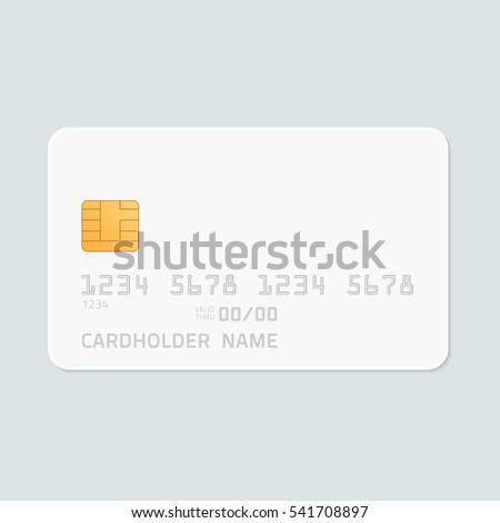credit card realistic mockup clear plasticのベクター画像素材