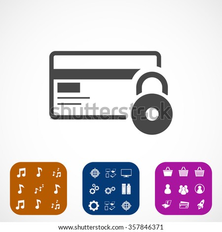 Credit Card Security icon . Vector  Eps 10  - stock vector