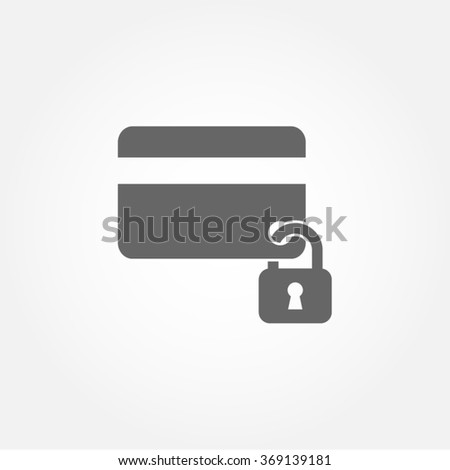 Credit Card Security Protection Safe Payment Vector Icon - stock vector