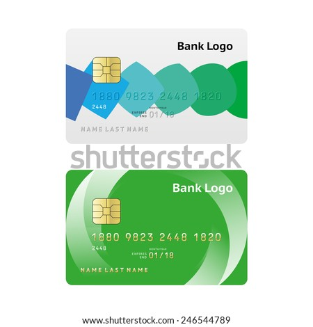 Credit card simple abstract design - stock vector