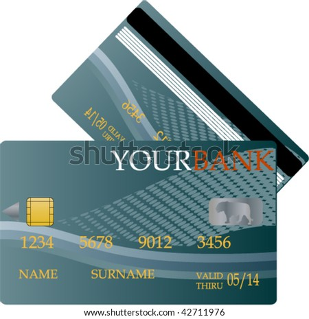 credit card template - vector - stock vector