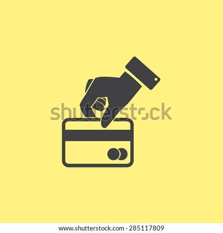Credit card vector icon - stock vector