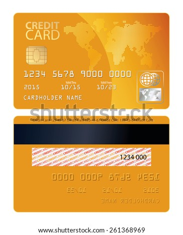 Credit card. Vector illustration. Conceptual illustration. Isolated on white background - stock vector