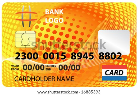 Credit card. Vector is fully editable - stock vector