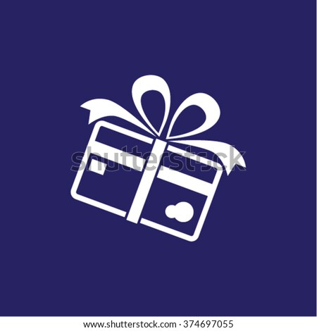 Credit card with ribbon as a gift icon. Vector  Eps 10