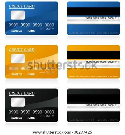 credit cards vector - stock vector