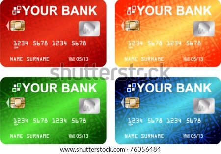 credit cards - vector - stock vector