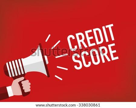 Credit score - stock vector