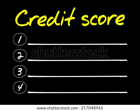 CREDIT SCORE blank list, business concept - stock vector