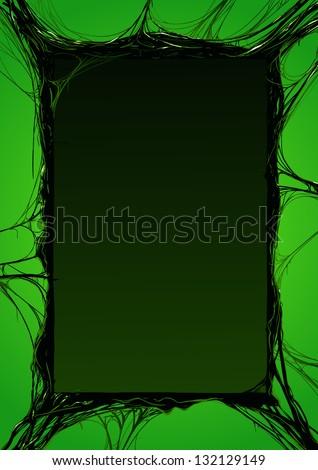 creepy slime halloween border. detailed vector illustration - stock vector