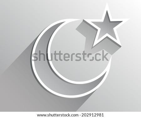 crescent moon holiday symbol - stock vector