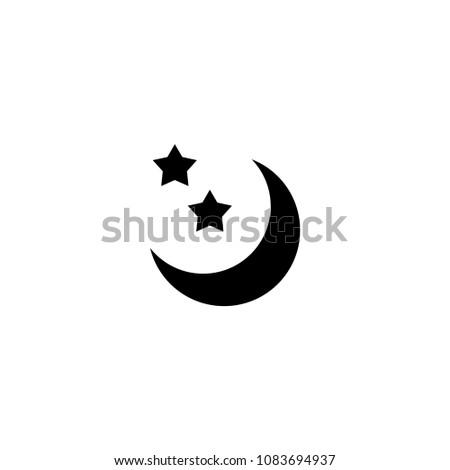 crescent moon icon template stock vector 1083694937 shutterstock
