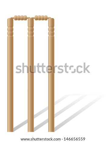 cricet wickets vector illustration isolated on white background - stock vector