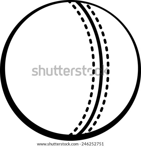 cricket ball - stock vector