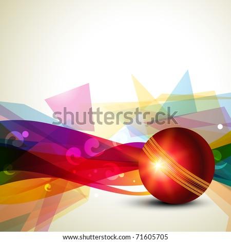 cricket ball colorful background design - stock vector
