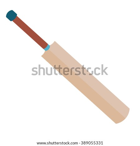 Cricket bat vector illustration isolated on a white background. - stock vector
