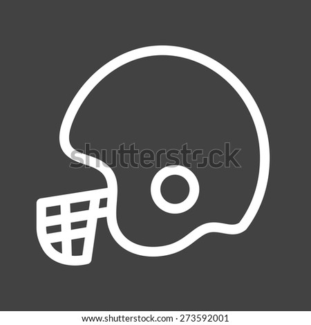 Cricket Helmet Player Wicket Keeper Icon Stock Vector 273592001