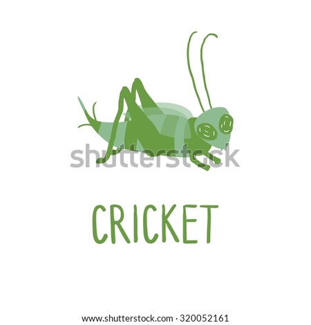 Cute Cricket Insect Clipart