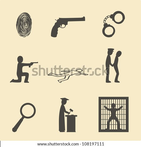 Crime and justice - stock vector