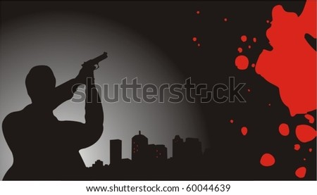 crime scene - stock vector