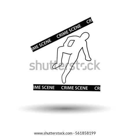 Dead body outline stock images royalty free images vectors crime scene icon white background with shadow design vector illustration pronofoot35fo Gallery