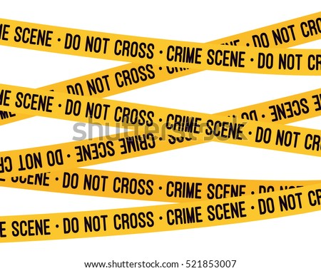 crime scene yellow tape police line stock vector royalty free
