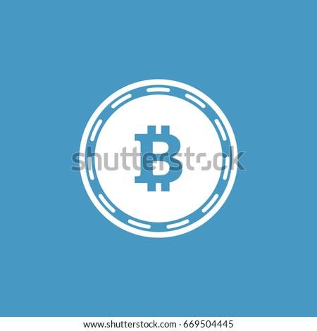 Cripto Currency Bitcoin Flat Vector Logo Icon For Web Sticker Print