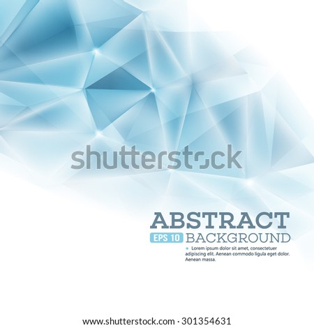 Cristal triangle background. Vector illustration EPS 10 - stock vector