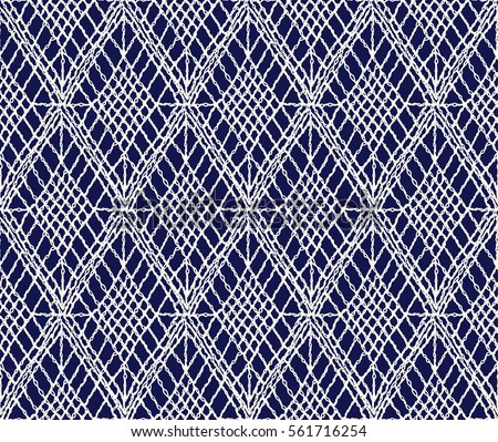 Crochet Seamless Pattern Knitted Woven Macrame Stock Vector Royalty