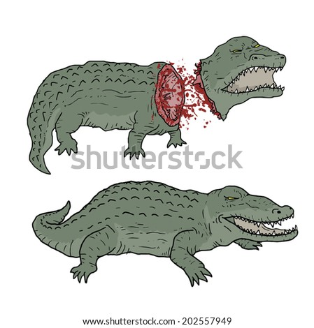 Crocodile death - stock vector