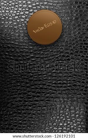 crocodile leather texture background, Vector template design - stock vector