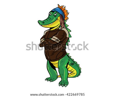 Crocodile Occupational Character - Rock Star
