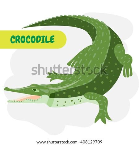 Crocodile or alligator. - stock vector