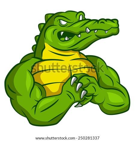 Crocodile Strong Mascot Stock Vector 250281337 - Shutterstock - photo#34