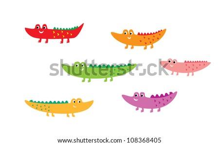 crocodile vector - stock vector