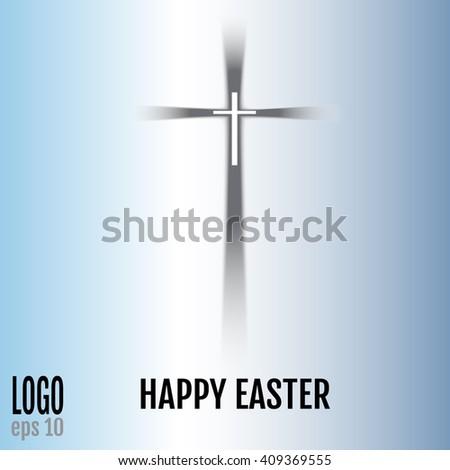 Cross. Christian Symbol. Vector illustration. - stock vector