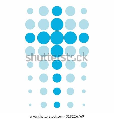 Cross in dots - stock vector