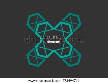 Cross nanotechnology element - stock vector