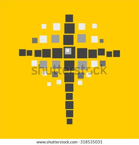 Cross of squares - stock vector