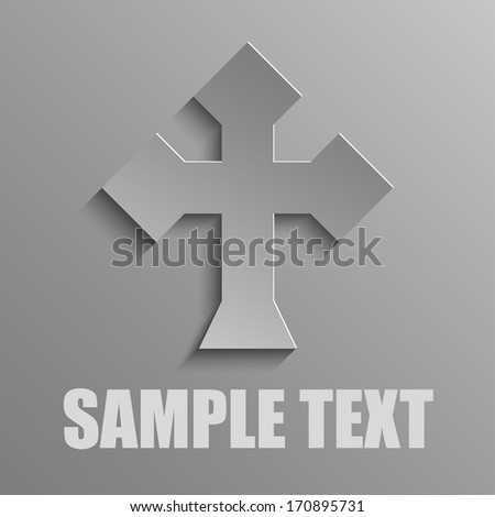 cross on a gray background - stock vector